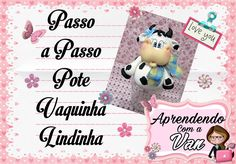 (DIY) PASSO A PASSO POTE VAQUINHA LINDINHA COM MOLDE MINI PETS G Pasta Flexible, Mini, Biscuits, Polymer Clay, Youtube, Decorated Jars, Craft Videos, Step By Step, Mason Jars