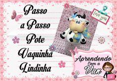 (DIY) PASSO A PASSO POTE VAQUINHA LINDINHA COM MOLDE MINI PETS G