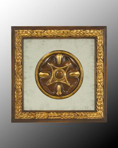 John Richard Wood Frame With Center Decoration On Egliomise Ix Gold Wood, Modern Contemporary, Design Projects, Home Furnishings, Luxury Homes, Decorative Plates, Clock, Tapestry, Wall Art