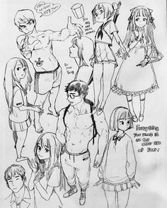 A imagem pode conter: desenho Anime Drawings Sketches, Anime Sketch, Drawing Reference Poses, Drawing Poses, Character Sketches, Character Drawing, Illustration Tumblr, Illustrations, Manga Drawing Tutorials