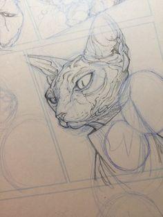 Animal Sketches, Art Sketches, Art Drawings, Art Sketchbook, Aesthetic Art, Manga Art, Traditional Art, Cat Art, Art Inspo
