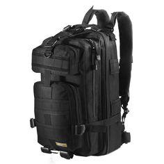 EEyourlife Military Tactical Backpack Small Rucksacks Hiking Bag Outdoor Trekking Camping Tactical Molle Pack Men Tactical Combat Travel Bag 20L