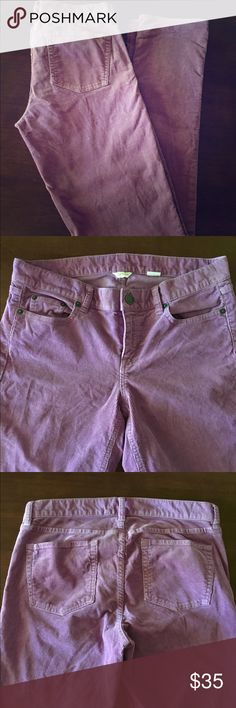 J. Crew Lavender Lilac Purple Corduroy Pants Waist: 31'. Inseam: 34.5' Length: 42.5'. Sized as 28T. J. Crew Pants Straight Leg