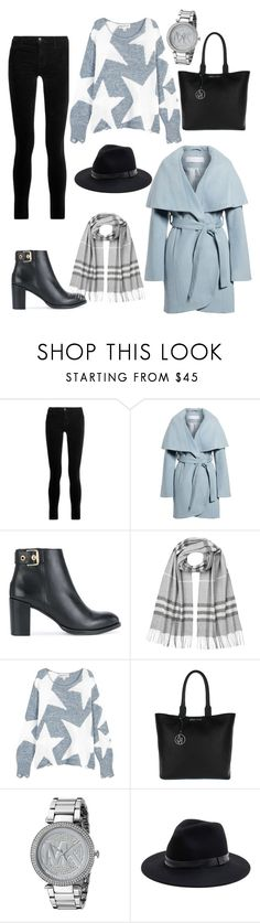 """""""🌨🌫 gloomy day"""" by kira130301 ❤ liked on Polyvore featuring J Brand, Tahari, Tommy Hilfiger, Burberry, Wildfox, Armani Jeans, Michael Kors and Sole Society"""