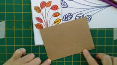 DIY Abstract Doodle Leaf Card Make Your Own Card, How To Make, Leaf Cards, Quick Cards, Step By Step Instructions, Card Making, Doodles, Make It Yourself, Abstract