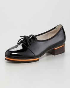 """As Fay said: """"Crazy jazz lady shoes, in the best way!""""  Patent Low-Heel Oxford by Jason Wu at Neiman Marcus."""