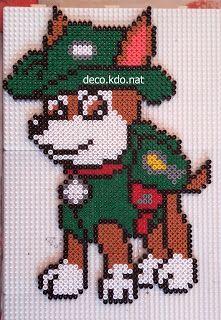 Hama Beads Patterns, Beading Patterns, Paw Patrol Tracker, Cross Stitch Designs, Cross Stitch Patterns, Pixel Art, Motifs Perler, Peler Beads, Cross Stitch Christmas Ornaments