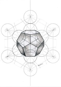 #dodecahedron #floweroflife #solid #polyhedron #geometry #symmetry #pattern #structure #circle #pentagon #fibonacci #mathart #regolo54