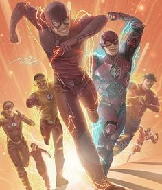 The Flash Family ---- OMG I love this picture! It has everyone from the CW TV show The Flash to Smallville to the cartoon!!!!! <3