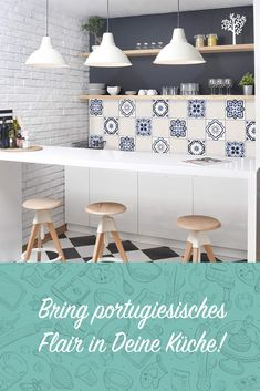 Bring Portuguese flair to your kitchen! # Idea kitchen Source by real_de The post Tile sticker set & 4 Portuguese tiles cream x set size: 12 pieces appeared first on The most beatiful home designs. Kitchen Ornaments, Good Environment, Portuguese Tiles, Pretty Designs, Küchen Design, Kitchen Tiles, Kitchen Remodel, Sweet Home, Room Decor