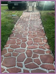 Unordinary Diy Pavement Molds Ideas For Garden Pathway To Try - Garden & Outdoor - Garden Floor Garden Floor, Garden Paving, Garden Paths, Backyard Projects, Backyard Patio, Landscape Design, Garden Design, Landscape Bricks, Landscape Steps