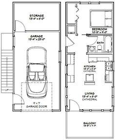 14x32 Tiny House -- #14X32H6B -- 567 sq ft - Excellent Floor Plans