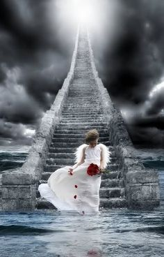 ♪Stairway to heaven ♪ Heaven Photo: This Photo was uploaded by photocoris. Find other Heaven pictures and photos or upload your own with Photobucket free image and video host. Angels Among Us, Angels And Demons, Real Angels, Angels Beauty, Stairway To Heaven, Celestial, Between Two Worlds, I Believe In Angels, Ange Demon