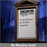 Harry Potter DIY Proclamation Board