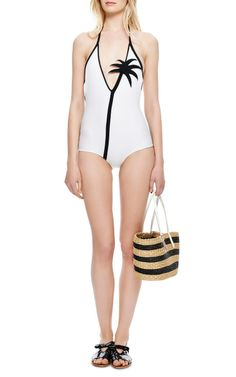 M'O Exclusive: Coconut Tree Halter Neck Swimsuit by Adriana Degreas - Sold Out, No Surprise.  #ModaOperandi