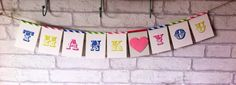 Thank You bunting/banner/garland//wedding//celebration//carnival  by LittleBOD on Etsy