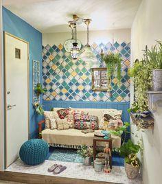 7-8月のiemoブースは「ボタニカル×モロッカン」 Interior Architecture, Interior And Exterior, Interior Design, Style At Home, L Shaped Living Room, Moroccan Interiors, Modern Room, Beautiful Bedrooms, Room Colors