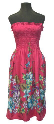 HAWAIIAN PINK FLORAL SHORT SUN DRESS- ONE SIZE « StoreBreak.com – Away from the busy stores