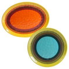 Certified International Sedona by Nancy Green Round Melamine Set of 2 Serving Platters