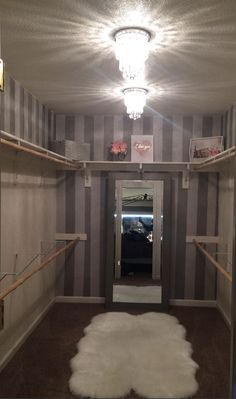 This looks just like the room that will be my dressing room/closet. I'll probably paint one wall Tiffany Blue. Walk In Closet Design, Closet Designs, Dream Closets, Dream Rooms, Closet Bedroom, Bedroom Decor, Closet Space, Bedroom Ideas, Dressing Room Design