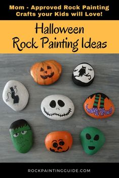 Easy fun Halloween Rock Painting Ideas that your kids will love! Easy fun Halloween Rock Painting Ideas that your kids will love! The post Easy fun Halloween Rock Painting Ideas that your kids will love! Halloween Arts And Crafts, Halloween Rocks, Halloween Tags, Holiday Crafts, Halloween Activities, Thanksgiving Crafts, Funny Halloween, Classy Halloween, Craft Activities