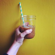 Sometimes being on a tight budget can be hard.  I made myself an iced coffee at home even though I really wanted to treat myself by walking to the coffee shop.  BUT this fun straw a had around makes THIS a treat. Then I took a walk around the block.