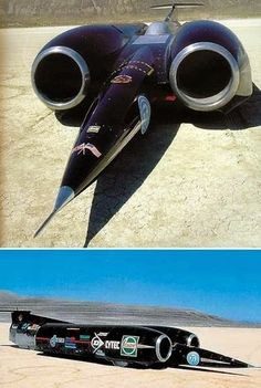 Thrust II  SSC 1st car to exceed the speed of sound .763.054mph.