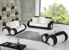 Amazing Brand New Italian Designer Black White Leather 2 Piece Sofa Settee Suite.  Milano Furniture Milanofurniture S Ideas On