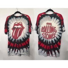 1994 Rolling Stones shirt vintage t shirt band t-shirts concert tee... (€79) ❤ liked on Polyvore featuring tops, t-shirts, stoner t shirts, tie dye t shirts, vintage rock t shirts, vintage tees and tie dyed t shirts