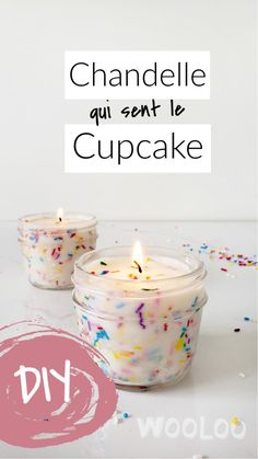 Faire une chandelle qui sent le cupcake - picture for you Diy Cupcake, Fun Cupcakes, Vanilla Cupcakes, Cupcake Candle, Natural Candles, Diy Candles, Cupcake Christmas, Noel Christmas, Diy For Kids