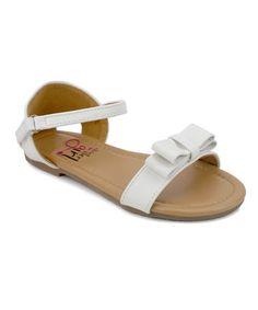 White Maren Sandal #zulily #zulilyfinds