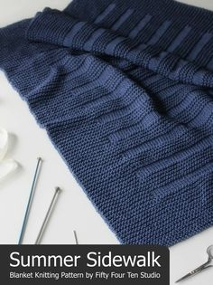 Knitting pattern / blanket / where the sidewalk ends / throw / Afghan / knitting / gift . - Knitting Pattern / Blanket / Where the Sidewalk Ends / Throw / Afghan / Knitting / Gift / Wedding / - Easy Blanket Knitting Patterns, Knitting Terms, Knitting For Charity, Knitted Afghans, Knitted Baby Blankets, Circular Knitting Needles, Easy Knitting, Knitting For Beginners, Knit Patterns