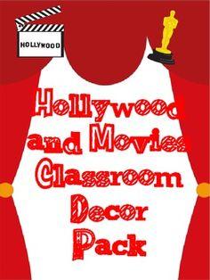 Hollywood Theme Classroom Decor Pack Movie Theme