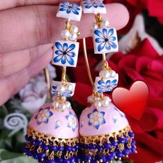 🌟 To buy this dm or whatsapp Indian Earrings, Jewelry Collection, Christmas Bulbs, Bridal, Holiday Decor, Bags, Accessories, Stuff To Buy, Instagram
