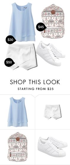 """""""My First Polyvore Outfit"""" by riaarahayu ❤ liked on Polyvore featuring Uniqlo, Abercrombie & Fitch, Billabong and adidas Originals"""