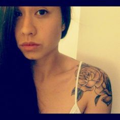 Rose shoulder cap tattoo