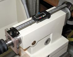 "Inexpensive 6"" digital caliper turns into a tailstock DRO"