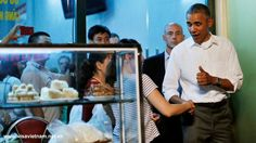 US President Barack Obama, who is in Hanoi for an official visit, on Monday had dinner with CNN's Anthony Bourdain at a bun cha restaurant in the Vietnamese capital Bun Cha Hanoi, Vietnamese Street Food, Vietnam Tours, Hanoi Vietnam, Vietnam Travel, Tv Chefs, Barack Obama, The Guardian, Presidents