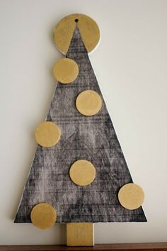 Wooden Christmas Tree | laura frances design blog