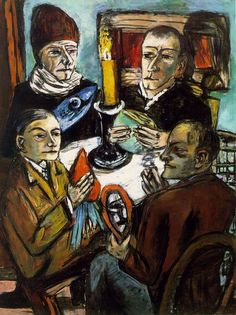 Max Beckmann:  Artists with Vegetables (1943) via Artchive