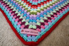 Love the colors in this big granny square