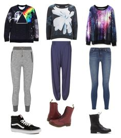 """""""3 best sweaters"""" by chrismarieee ❤ liked on Polyvore featuring Religion Clothing, Chicwish, Dr. Martens, J Brand, rag & bone, M&S, Vans, women's clothing, women's fashion and women"""