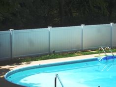 Solid PVC Pool Fencing Pvc Pool, Pool Fence, Severe Weather, Weather Conditions, Backyard, Fencing, Outdoor Decor, Patio, Picket Fences