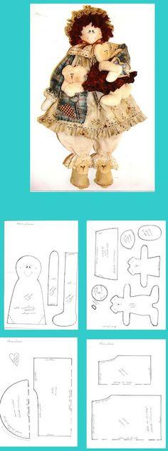 Stuffed Ragdoll Pattern