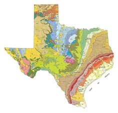 Geologic Maps of the 50 United States: Texas Geologic Map