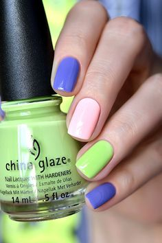 China Glaze — «Be More Pacific», «What A Pansy», «Spring In My Step»