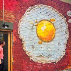 Mike Makatron ~ fried egg street art. https://www.flickr.com/photos/86140642@N07/25074146865
