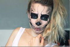 Halloween Makeup Tutorial: Skeleton!