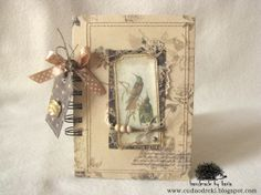 scrapbooking, birds, vintage, notebook, notes by cuda od ręki
