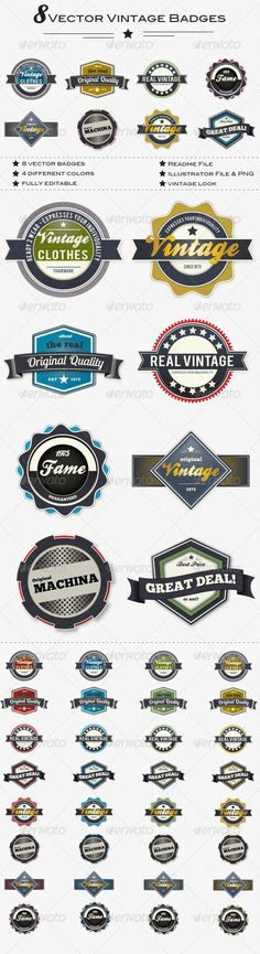 Trendy Set of Vector Badges  EPS Template • Download ➝ https://graphicriver.net/item/trendy-set-of-vector-badges/1509867?ref=pxcr